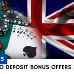 Top 5 UK No Deposit Bonus Offers 2020